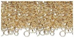 100 + GOLD PLATED Brass JUMP RINGS Mix 4-10mm Round New (8 gra...