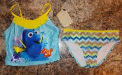 Disney's Finding Dory Girls 2-Piece Tankini UPF 50+ Size 4/5 6...