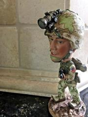 Military Bobble Head. Great Gift.Military-themed decor FREE SH...
