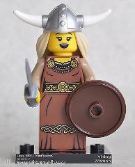 LEGO MINIFIGURES SERIES 7 Viking Woman MINI FIGURE