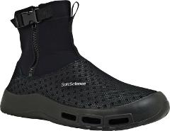 SoftScience Fin Fishing Boot (Men's) in Black Neoprene/Mesh - ...