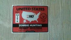 United States Zombie Hunting Permit 2013/2014 Sticker Decal He...