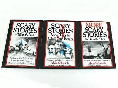 3 Book Set: SCARY STORIES to Tell in the Dark 1 2 & 3 Alvin Sc...