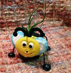Tilla Critters Bumbly Bobby Bee One of a Kind Air Plant Creati...