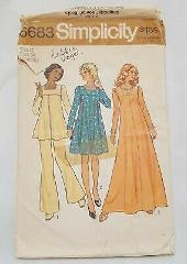 Maternity Dress Two Lengths Sewing Pattern 6683 SImplicity 197...