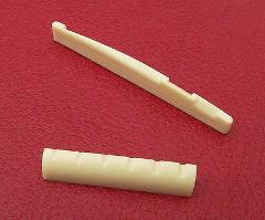 Cream ABS plastic Nut and Saddle set for Acoustic / Folk guita...