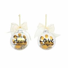 Christmas Ornament Glass Ball Love Is A Four Legged Word Road ...