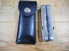 Leatherman Fuse custom Black leather sheath. Sheath only.