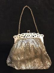 Antique Silver Mesh Bag By Whiting And Davis Free Shipping