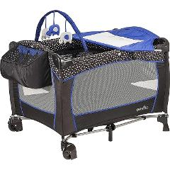 Playpen Nursery Playard Portable Baby Crib Changer Bassinet Sl...