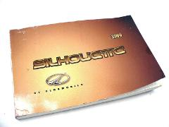 1999 OLDSMOBILE SILHOUETTE Owners Manual Guide USED