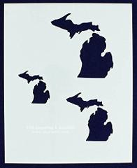 State of Michigan Stencils - 2