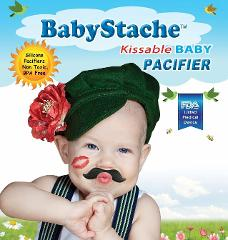 BabyStache Kissable Baby Pacifier ROMEO Black Child Infant Sho...