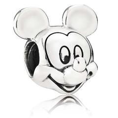 Pandora Mickey + Minnie Mouse Solid Sterling Silver Charm + PA...