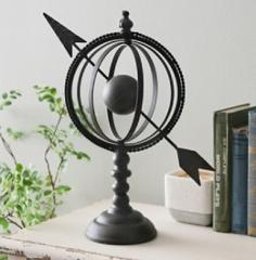 Vintage Bronze Armillary Arrow Globe Modern Sophistication Hom...