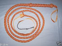 10 Foot 4 Plait TAN INDIANA JONES Real Leather BULLWHIP (BUL...