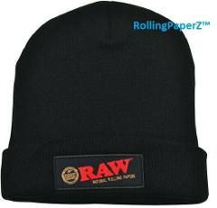 Raw Rolling Papers Beanie Toboggan Hat - Black - One Size fits...