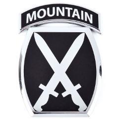 10th Mountain Division Patch Car Emblem