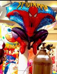 Spider Man76 Cm Inflatable Flying Figure Toy Foil Balloon Gre...