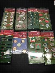 Lot of 8 Holiday Time Christmas Embellishment Packs Multiple P...