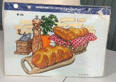 Handpainted Decals By Decocal Bread Basket Kitchen Vintage