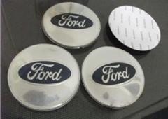 56mm Silver Chrome Ford Wheel Centre Cap Badges Emblems Sticke...