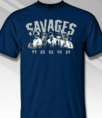 New York Yankees MLBPA SAVAGES Men's S/S Tee Shirt , Navy Size...