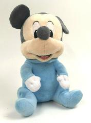Disney BABIES Pastel BLUE Plush MICKEY Mouse VELOUR Gray 10
