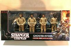 Stranger Things Ghostbusters Dustin Mike Will Lucas Figure Pac...