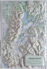 GRAND TETON NATIONAL PARK Raised Relief Map