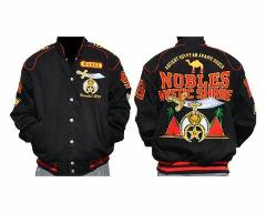 Noble Shriner Masonic Fraternity Race Jacket Freemason Coat AE...