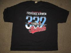 TUSKEGEE AIRMEN T-SHIRT USA AIR FORCE T-SHIRT BLACK RED TAILS ...