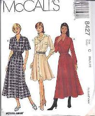 8427 UNCUT Vintage McCalls SEWING Pattern Misses Front Buttone...