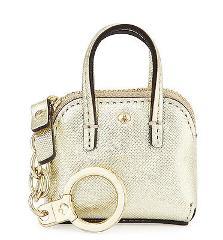 Kate Spade Metallic Gold Saffiano Leather Maise Bag Charm Key ...