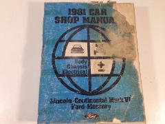 1981 Ford Car Shop Manual Body Chassis Electrical Lincoln Cont...