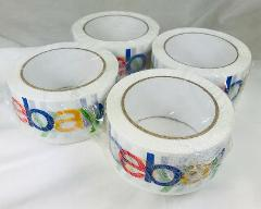 eBay Branded Packing Tape 4 Rolls 2'' x 75 Yards Each New Seal...