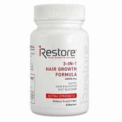 iRestore 3-in-1 Hair Growth Supplement with Biotin for Hair Sk...