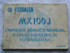 1982 82 YAMAHA MX100 MX 100 100J OWNER'S OWNER SERVICE MANUAL