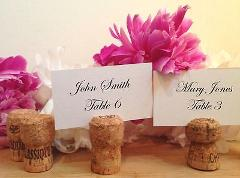 100 Handmade Champagne Cork Place Card Holders for Wedding, Pa...