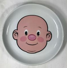 Fred Food Face Fun Kids Ceramic Dinner Plate Play with Your Fo...