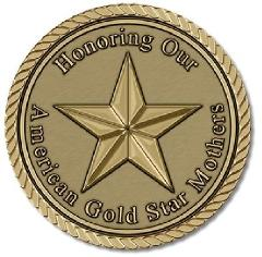 American Gold Star Mothers Medallion for Box Cremation Urn/Fla...