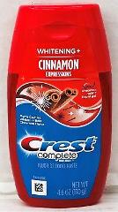 Crest Complete Whitening Cinnamon Expressions Fluoride Toothpa...