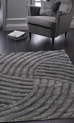 Origins Dallas Contemporary Glamour Shaggy Carved Rug Charcoal...