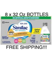 Similac Pro Advance Ready to Feed Infant Formula With HMO (8 x...