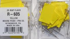 Map Flags (Rectangle) - Yellow by Moore Push Pin
