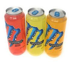 Monster Hydro in 16.9 Fl Ounce Clear Cans Three Flavor Bundle:...