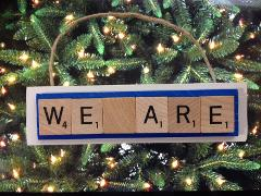 Penn State We Are Lions Scrabble Tiles Christmas Ornament Rear...