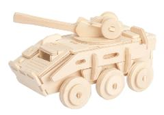 Armored Vehicle 3D Wooden Puzzle DIY 3 Dimensional Wood Build ...