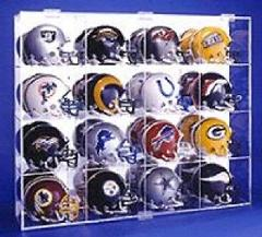 Mini Football Helmet Display Case Holds 16 NFL Made in USA New...