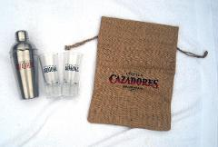 Cazadores Tequila Metal Shaker 2 Tall Shooter Glasses 2016 Bur...
